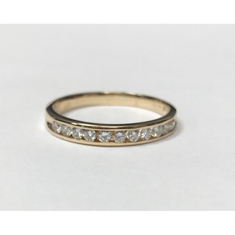 Antique, Estate & Consignment Yellow Gold Channel Set Diamond Band