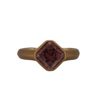 18k Rose Gold Zircon Ring
