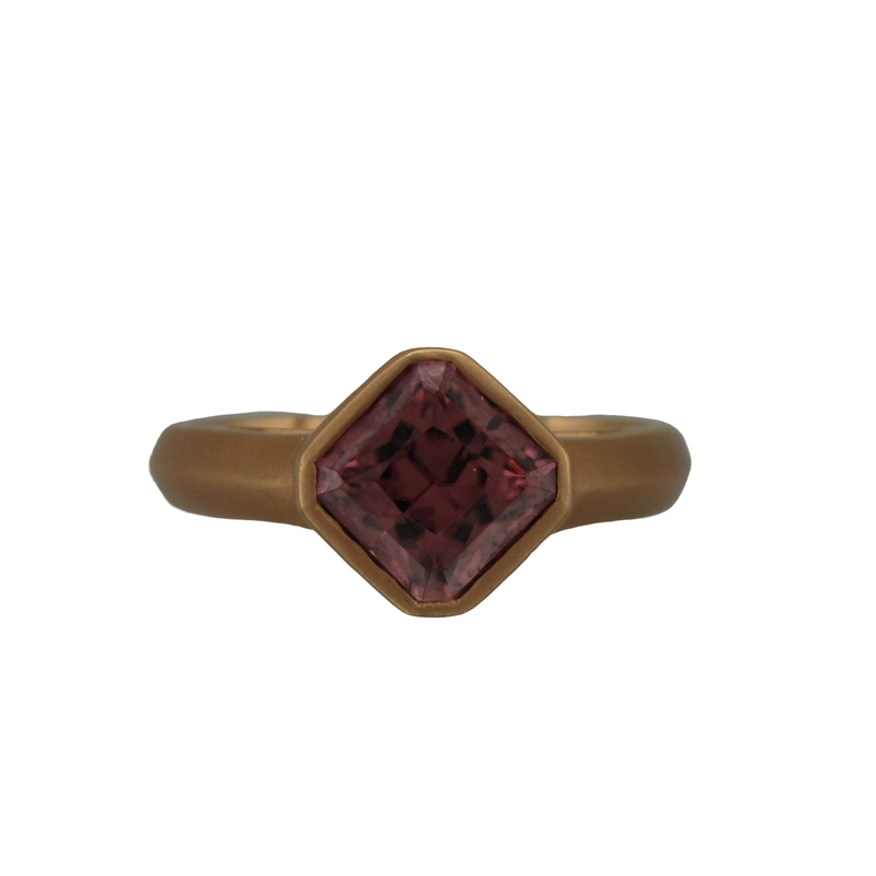 Kimberly Collins 18k Rose Gold Zircon Ring