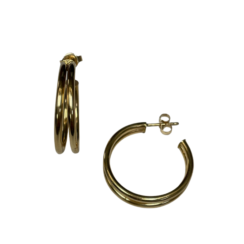 Antique, Estate & Consignment Double Hoop Earring