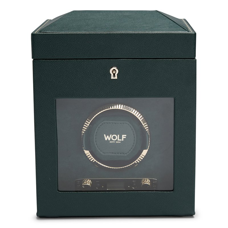 Wolf British Racing Green Single Watch Winder