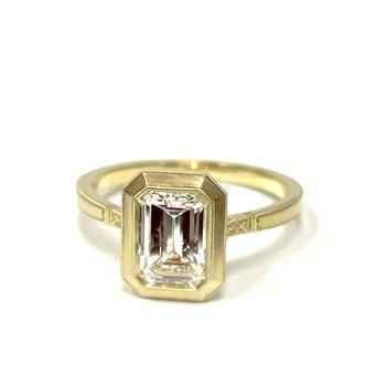 1.25 Carat Emerald Cut Mariana Engagement Ring
