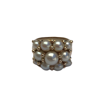 Cluster Pearl Ring
