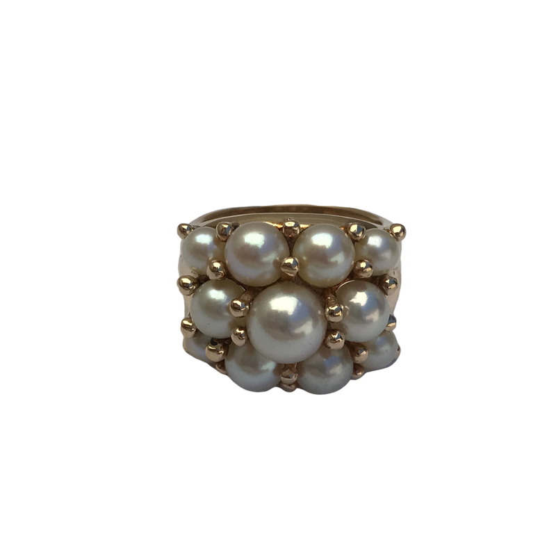 Antique, Estate & Consignment Cluster Pearl Ring
