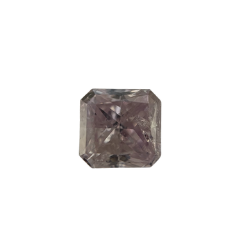 0.84 Carat Natural Fancy Pink/Purple Diamond Radiant Cut