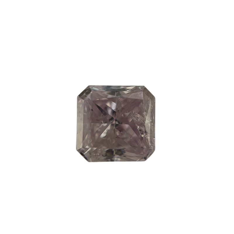 Hurdle's Loose Diamonds 0.84 Carat Natural Fancy Pink/Purple Diamond Radiant Cut
