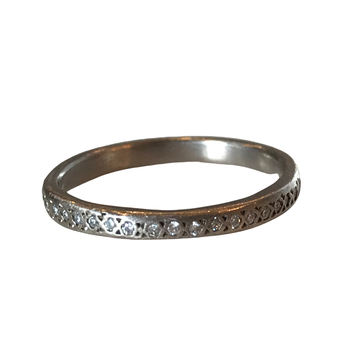 18k Palladium Diamond Eternity Band