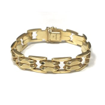 14k Gold Hollow Link Bracelet