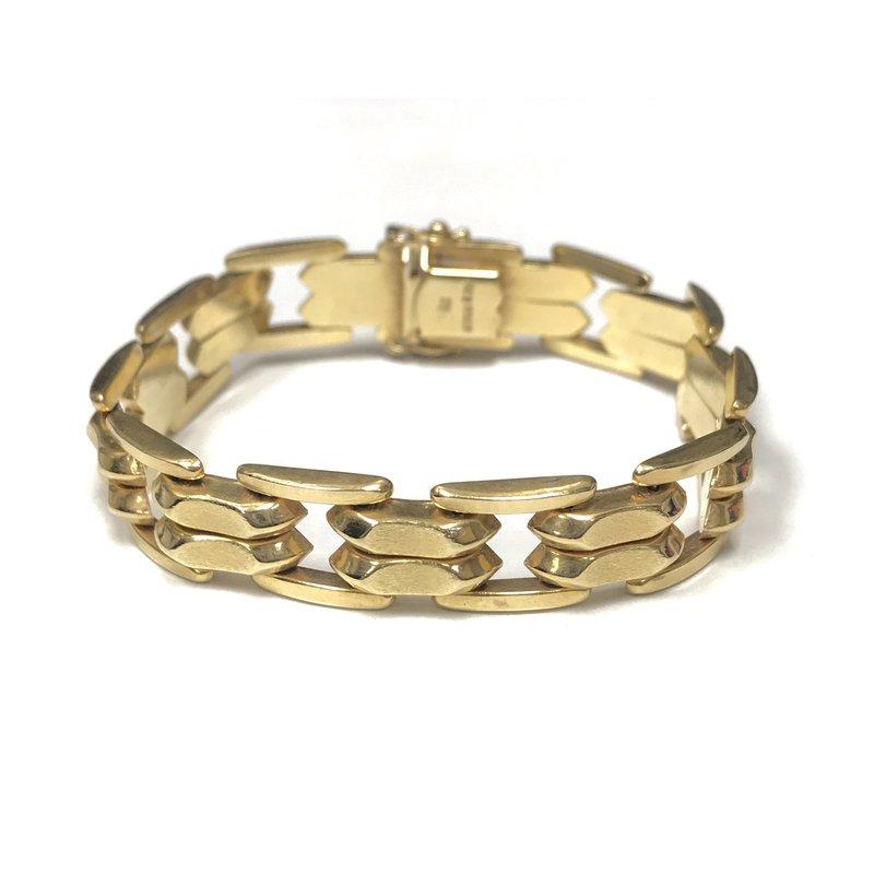 Antique, Estate & Consignment 14k Gold Hollow Link Bracelet