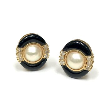 Pearl & Onyx Earrings