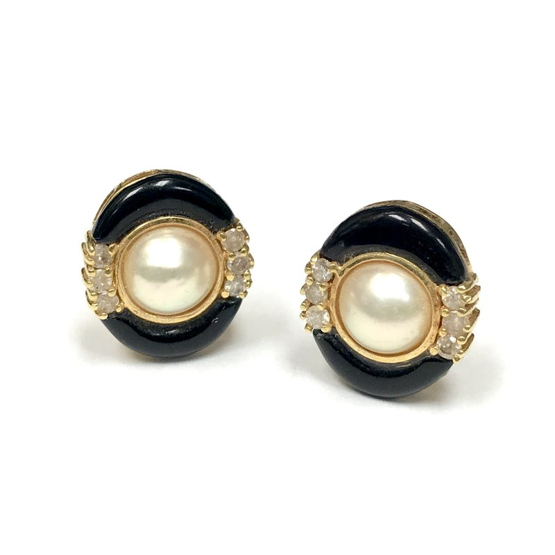 Antique, Estate & Consignment Pearl & Onyx Earrings
