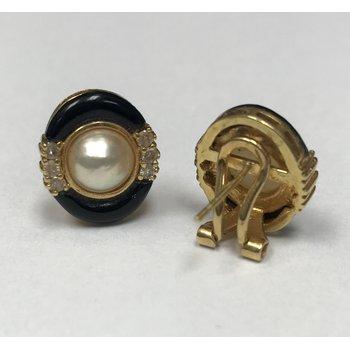 Pearl & Onyx Earrings