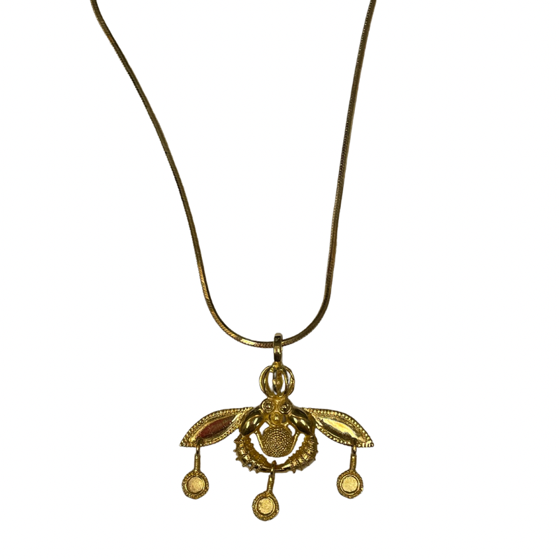 Antique, Estate & Consignment 18k Bee Necklace