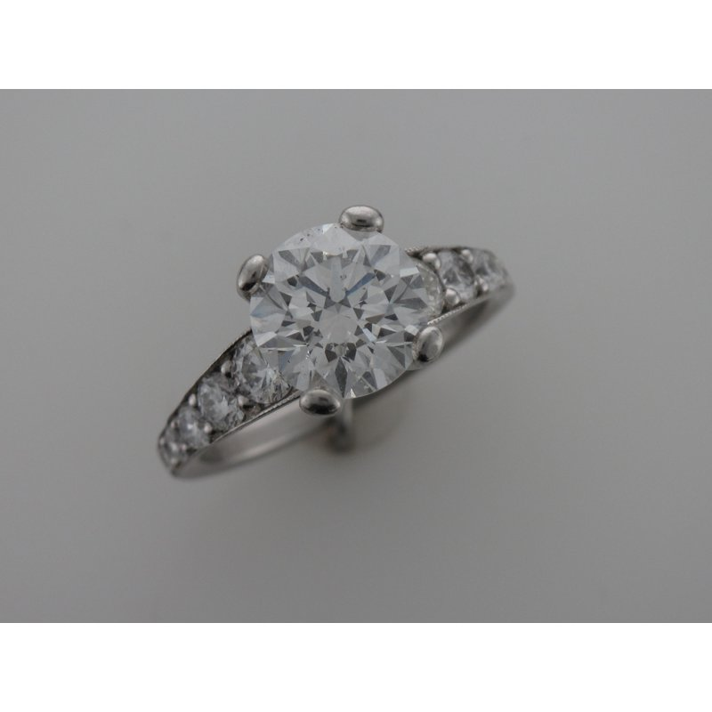 Hurdle's Custom Designs Diamond Engagement Ring With Tapered Sides
