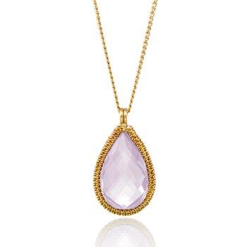 Lilac Quartz Candy Drop Necklace