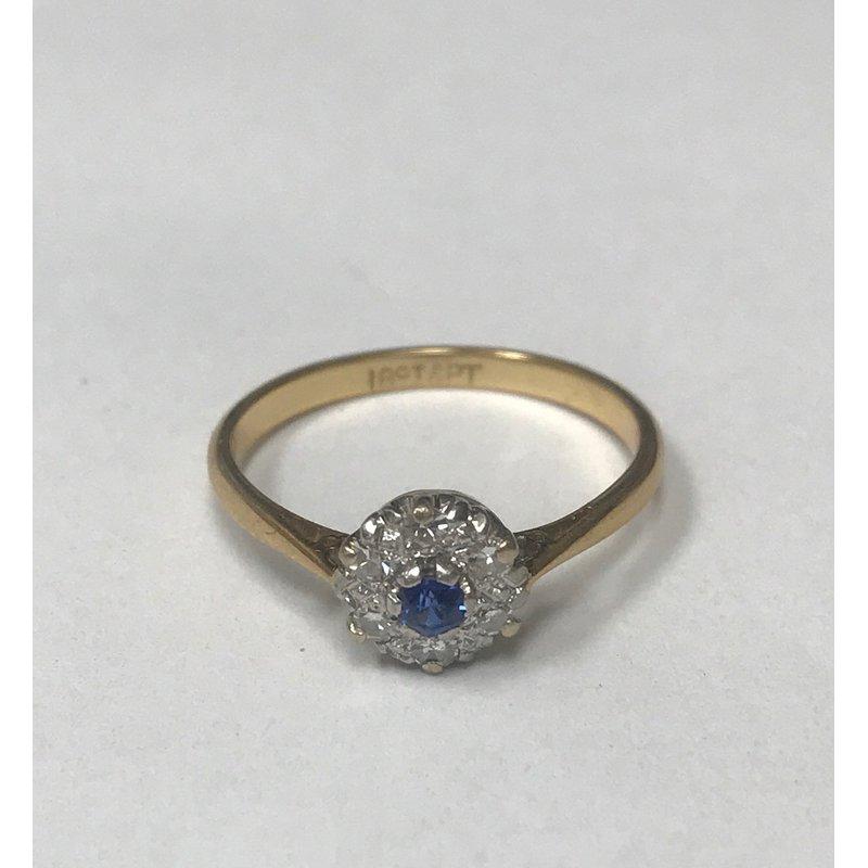 Antique, Estate & Consignment Diamond & Sapphire Ring