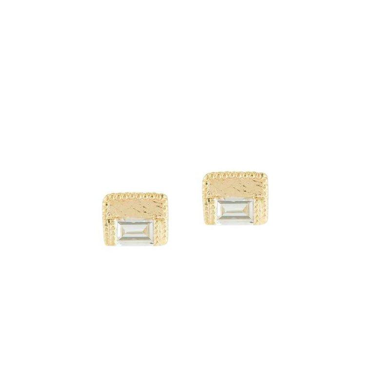 Jennie Kwon Baguette Block Diamond Studs
