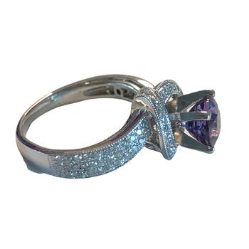 Lavender Sapphire & Diamond Ring