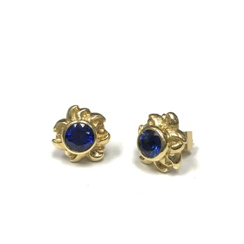 Free Form Sapphire Stud Earrings