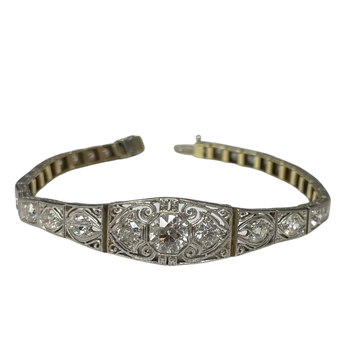 Vintage Old European Cut Diamond Bracelet