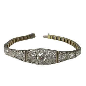 Vintage Old European Cut Diamond Bracelet