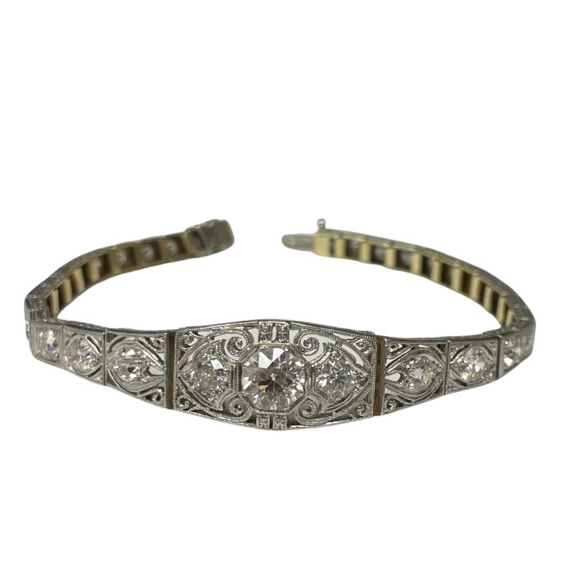 Antique, Estate & Consignment Vintage Old European Cut Diamond Bracelet