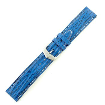 19mm Blue Leather Strap