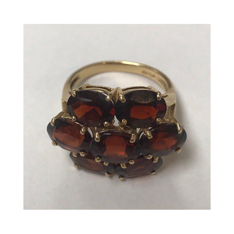 Antique, Estate & Consignment Floral Garnet Cluster Ring