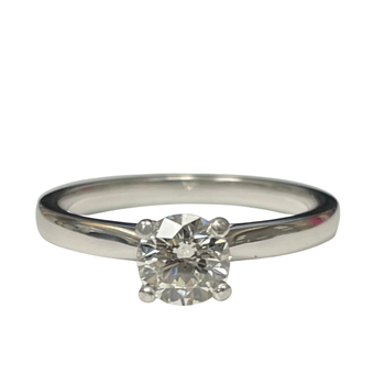 14k White Gold Diamond Solitaire Engagement Ring - 0.67 Carats