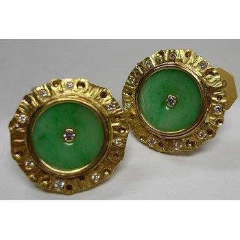 Diamond & Jadeite Earrings