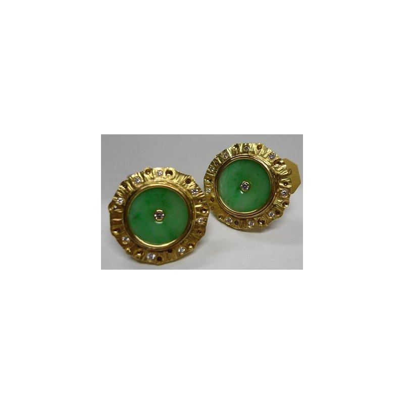 Richard Kimball Diamond & Jadeite Earrings