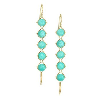 Amazonite Textile Drop Earrings