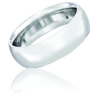 14k White Gold 7mm Band