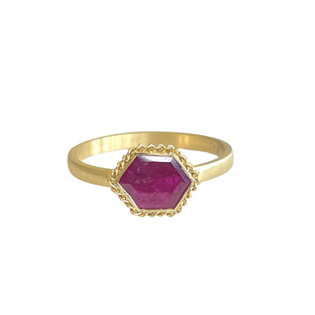 One of a Kind Ruby Slice Ring