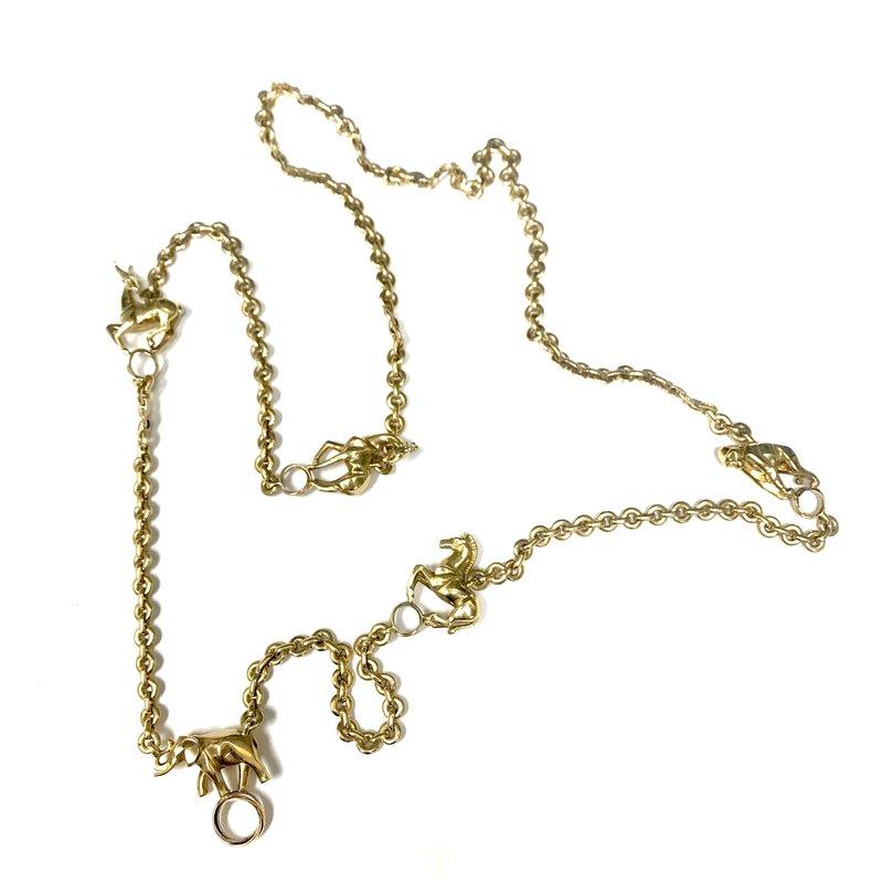 Antique, Estate & Consignment Cartier 5 Animal 18k Gold Necklace