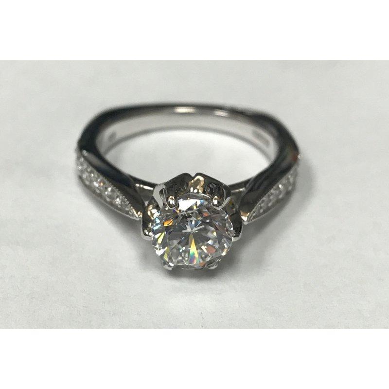 Antique, Estate & Consignment Diamond Semi Mount Engagement Ring