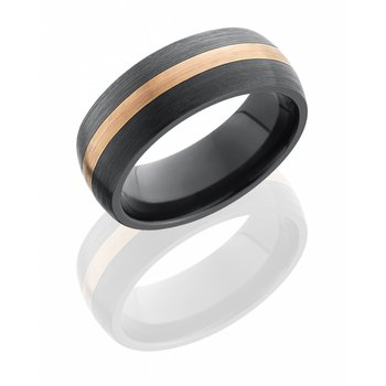Zirconium & Rose Gold Band