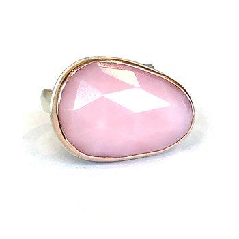 Pink Peruvian Opal Ring