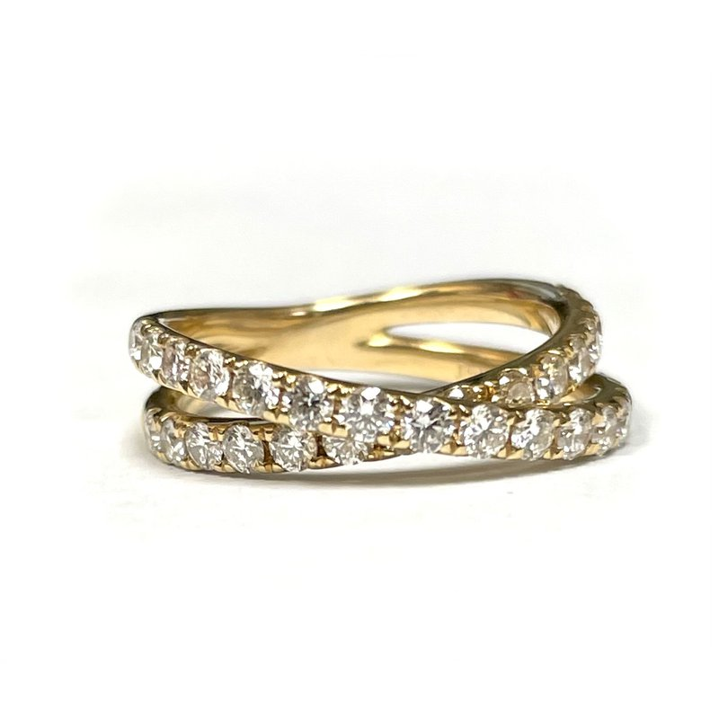 Hurdle's Jewelry Collection Diamond Crossover Ring