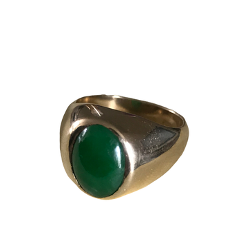 Jadeite Signet Ring