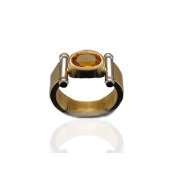 Contemporary Yellow Sapphire Ring