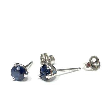 0.65 Carat Sapphire Stud Earrings