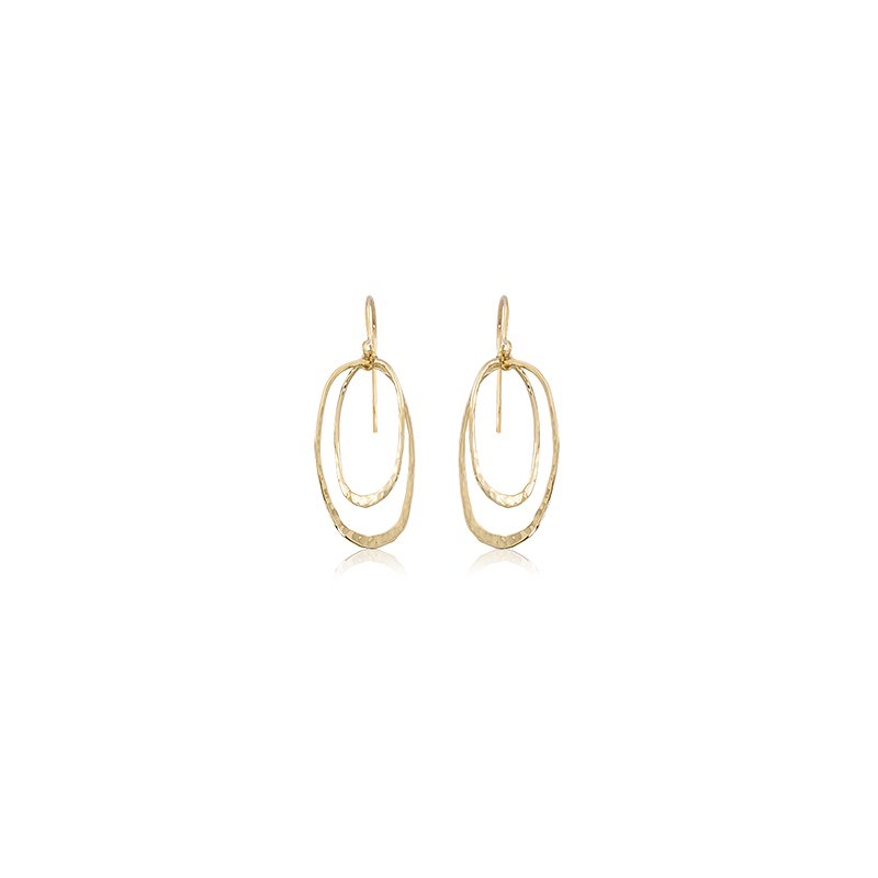 Carla Nancy B Mini Hammered Double Oval Earrings
