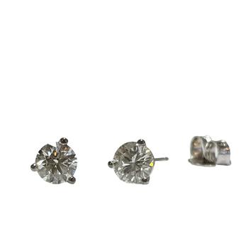 0.74 Carat TWT Diamond Studs