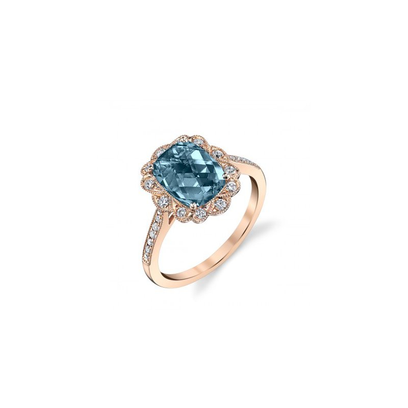 Stanton Color London Blue Topaz & Diamond Ring