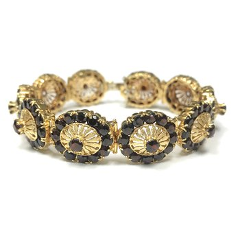 Garnet & Gold Bracelet