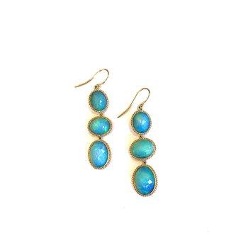 Ethiopian Opal Drop Earrings