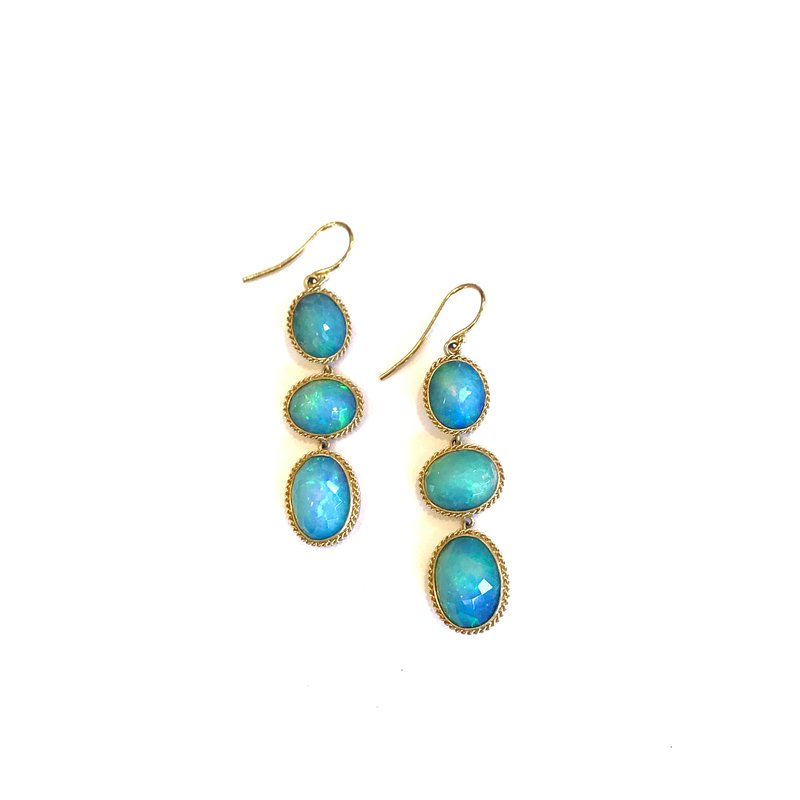 Amali Ethiopian Opal Drop Earrings