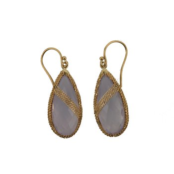 Lavender Quartz Candy Drop Drape Earrings