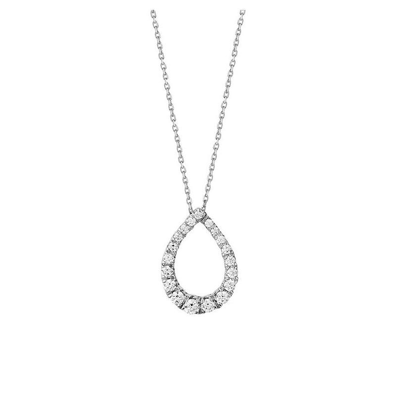 Facet Barcelona Diamond Pear Drop Necklace